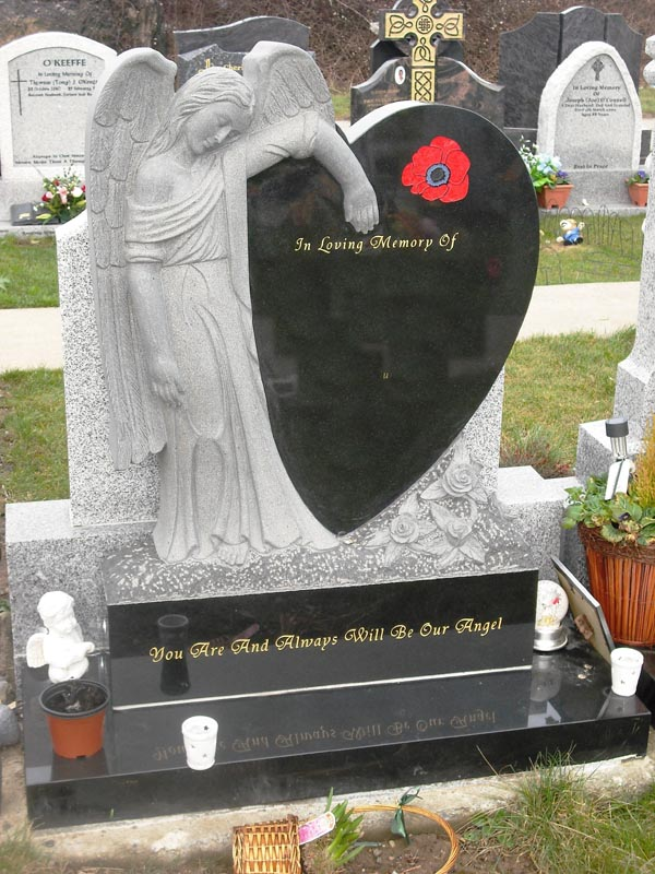 Angel Heart Headstone- A