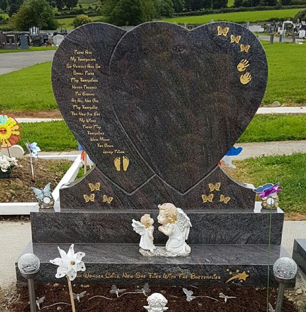 Double Heart Headstone-A