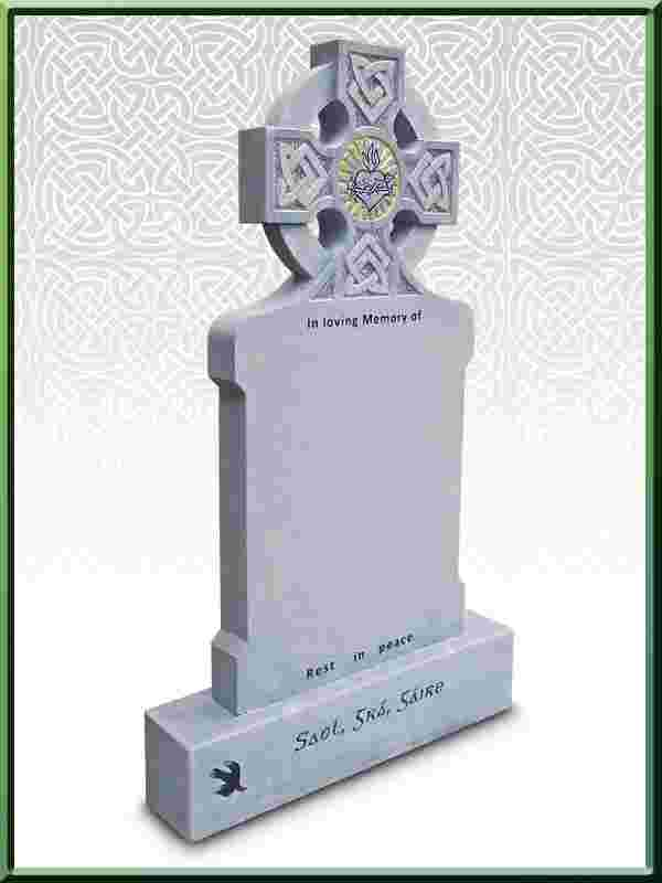 Limestone Headstone New Design No 6