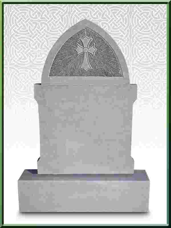 Limestone Headstone New design No 9