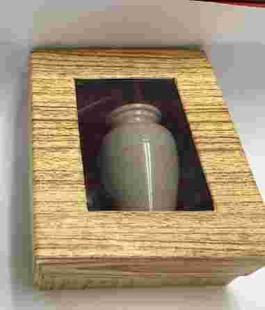 Small Keepsake Stone Cremation Urn in Box RO-4- BOT