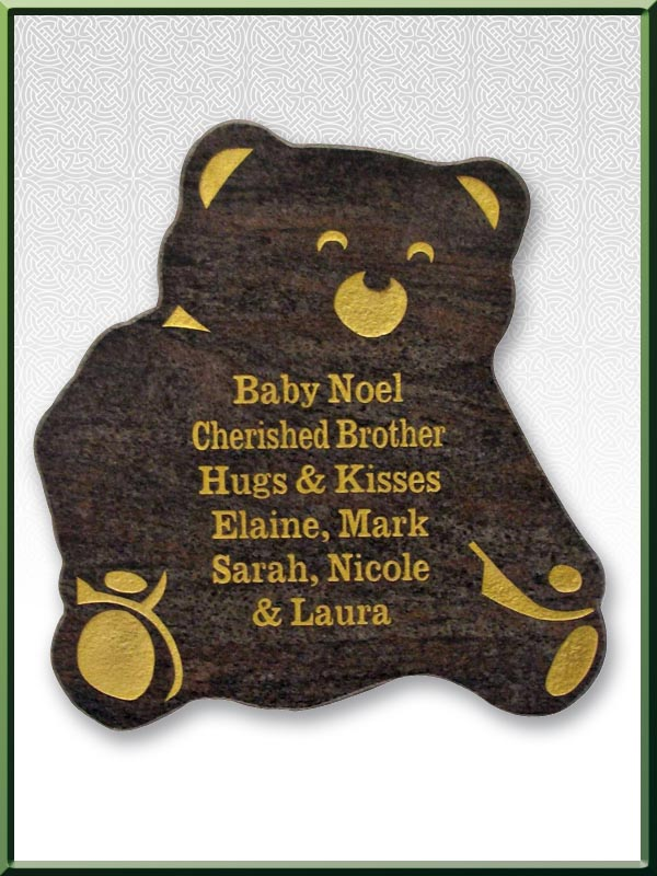 custom 11 teddy Plaque