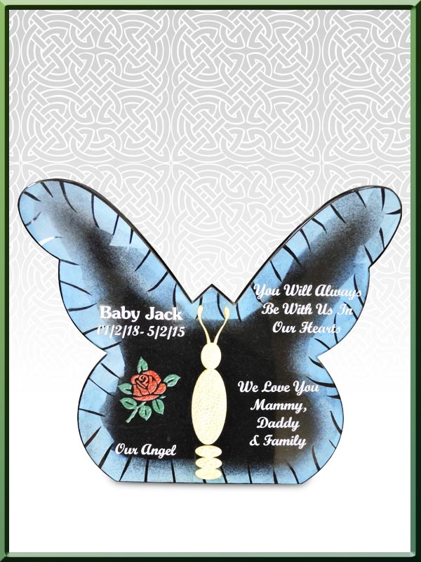Custom 05 Butterfly Plaque