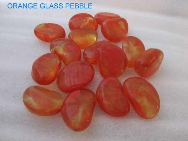 No 4 Orange Glass Pebbles