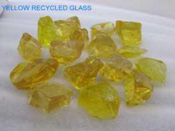 No 12 Yellow Recycled Glass